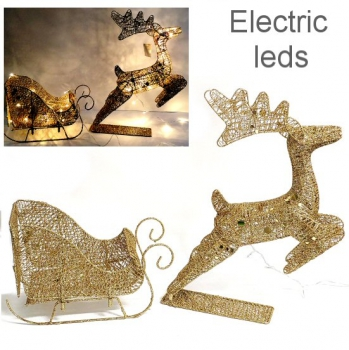 REINDEER AND CARRIAGE LEDS