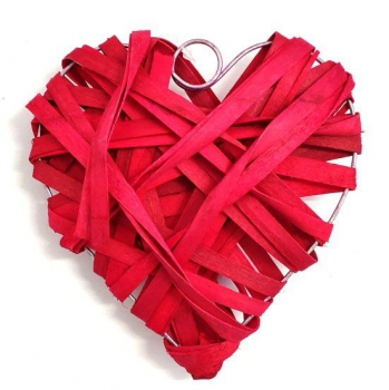 RED WILLOW HEARTS 15cm