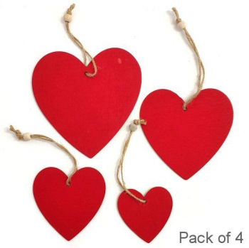 WOODEN HEART RED