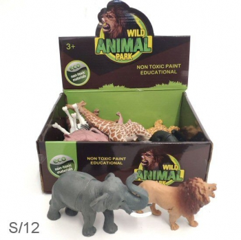 AFRICAN ANIMAL TOY BOX