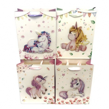 UNICORN GIFT BAG 4 ASSTD