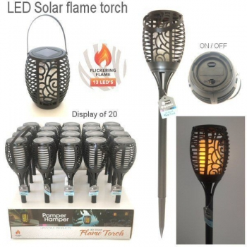 LED SOLAR FLAME PLASTIC TORCH