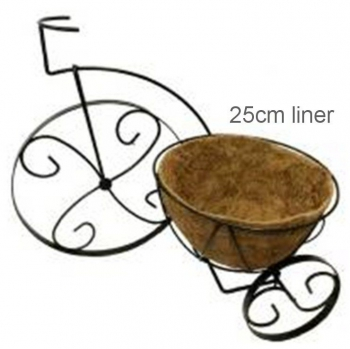 BICYCLE PLANTER WITH COCOLINER 10