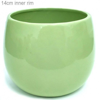 POT COVER LIME GREEN MED
