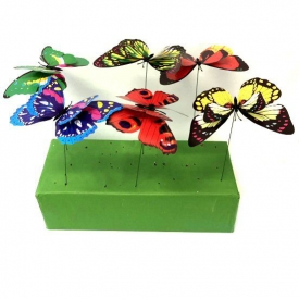 PLASTIC BUTTERFLY STICK