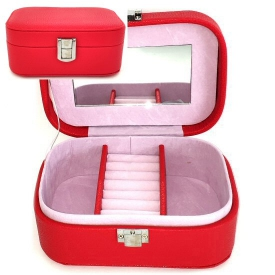 JEWELLERY BOX MED RED
