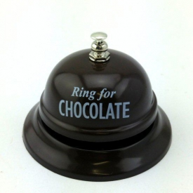RING FOR CHOCOLATE DESKBELL