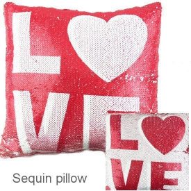 PILLOW SEQUIN RED LOVE