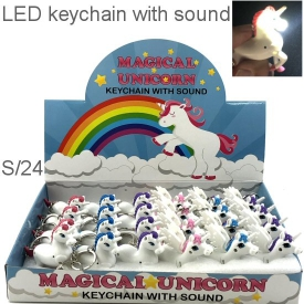 UNICORN KEYRINGS DISPLAY 24