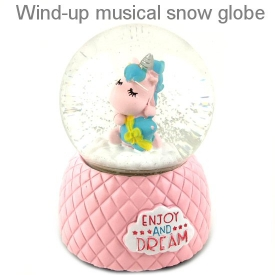 UNICORN WATERBALL WITH MUSIC PINK