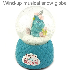 UNICORN WATERBALL WITH MUSIC BLUE