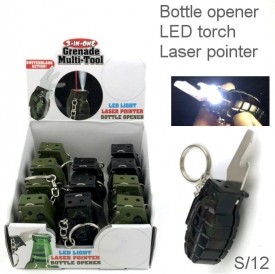 GRENADE KEYRING DISPLAY 12