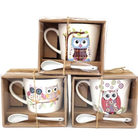 OWL MUG & SPOON SET