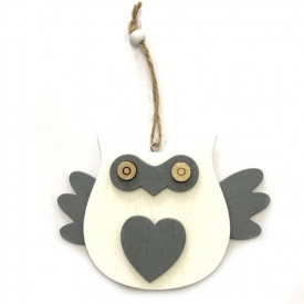 WOODEN OWL ON STRING