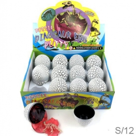 DINOSAUR EGG PUTTY DISPLAY 12