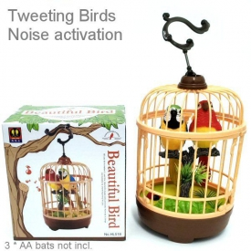 SINGING BUDGIES IN CAGE