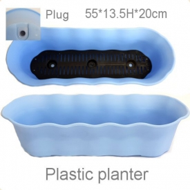 PLASTIC POT BLUE