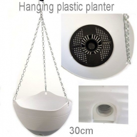 HANGING PLASTIC POT WHITE LARGE