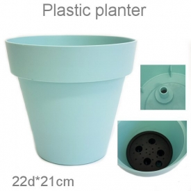 PLASTIC POT BLUE SMALL