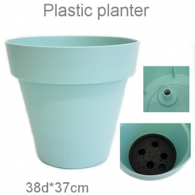 PLASTIC POT BLUE LARGE