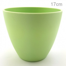 PLASTIC POT MEDIUM GREEN