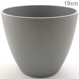 PLASTIC POT LARGE  GREY