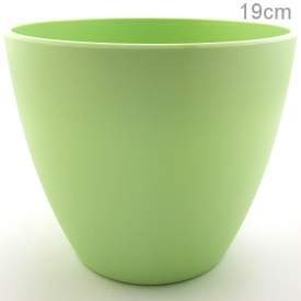 PLASTIC POT LARGE GREEN