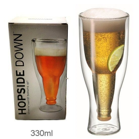 BOTTLE BEER GLASS