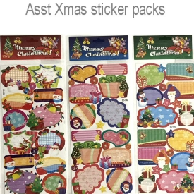 XMAS CARD STICKERS