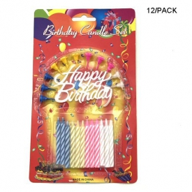 HAPPY BIRTHDAY CANDLE SET 12