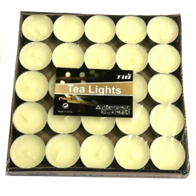 TEALIGHT CANDLES DISP 50