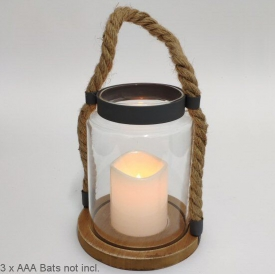 ROPE LED CANDLE HOLDER