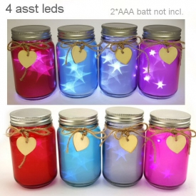 GLASS JAR WITH LED