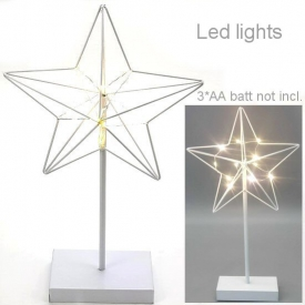 METAL STAR WITH LED LIGHTS