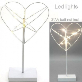 METAL HEART WITH LED LIGHT