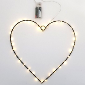 METAL HEART W/LED LIGHT
