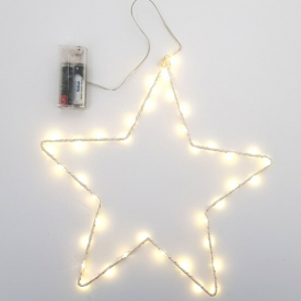 METAL STAR W/LED LIGHT