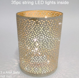 CANDLE HOLDER WITH LED LIGHTS
