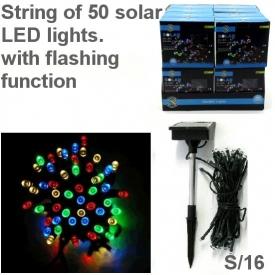 SOLAR 50 MULTI COLOUR LED STRING