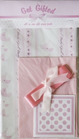 GIFT WRAP PACK - PINK SPOT