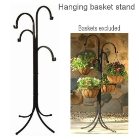 4 ARM HANGING BASKET TREE STAND