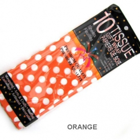 TISUUE WRAP ORANGE POLKA DOT