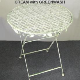 TABLE GREEN WITH WHITE BASE