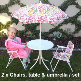 KIDS TOY BISTRO SET PINK