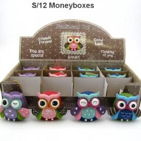 OWL MONEY BOX 4 ASSTD