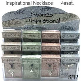 INSPIRATIONAL NECKLACE 4 ASSTD