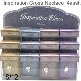 CROSS NECKLACE 4 ASSTD