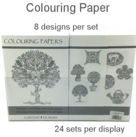 COLORING PAPER NATURAL 8 ASSTD