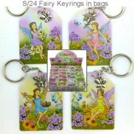FAIRY KEYRING IN BAG DISP 24