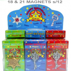 18th/21st KEY MAGNET S/12